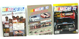 The Official NASCAR Yearbook &Press Guide 1986+1990+1992 USA Auto Racing... - $32.71