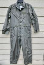 Us Air Force Nomex Fire Resistant Flight Suit Green CWU-27/P - 40R. - $34.65