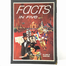 Facts In Five The Game Of Knowledge 3M Bookshelf Game 1967 Vintage Complete - $22.72
