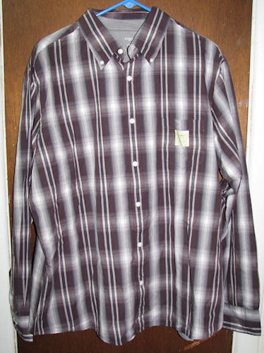 Primary image for Mens Sonoma Button Down Casual Shirt & Tshirt XL Maroon NWT
