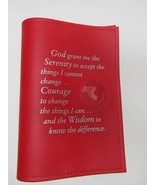 AA Alcoholics Anonymous Big Book Cover Medal Holder RED  - $18.90
