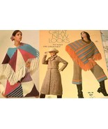 70's Ponchos Pants Suit  Coat Tunic Knitting Pa... - $8.00