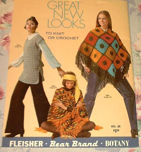 70's Ponchos Pants Suit  Coat Tunic Knitting Patterns Boho Retro Mod Bold Drama