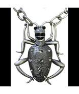 Steampunk Neo Victorian Giant Rhinestone Beetle Large Bug Gun Metal Black Enamel - $64.99