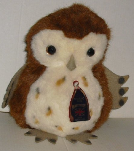 Vintage MERRYTHOUGHT made in England Plush OWL w/ hang tag