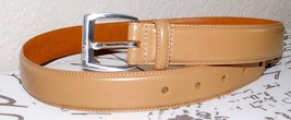 Ralph Lauren Women's Italian Leather Belt Camel Tan Size: S