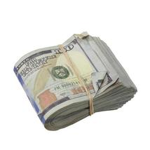 PROP MOVIE MONEY - New Style $100s AGED LOOK $10,000 Blank Filler Fat Fold - $10.99