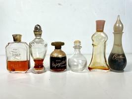 6 Vintage AVON Mini Bottles Perfume Oil Cotillion Topaze Unforgettable ++ - $26.72