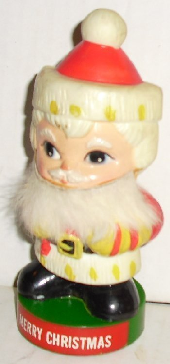 """Vtg Merry Christmas SANTA ClLAUS Figure 5"""" 1971 Berries"""