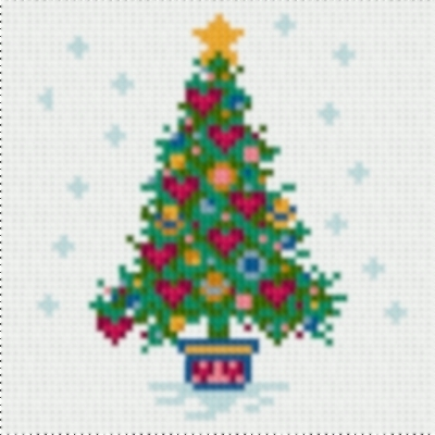 Latch Hook Rug Pattern Chart: ChristmasTree PT - EMAIL2u