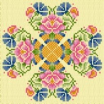 Latch Hook Rug Pattern Chart: Floral Hearts - EMAIL2u - $5.75