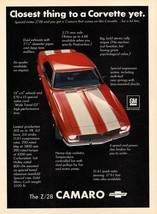 1968 CHEVY CAMARO AD 24 X 36 INCH POSTER | man cave | garage | wall decor | - $18.99