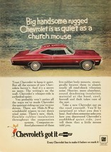1968 CHEVY IMPALA AD 24 X 36 POSTER | man cave | garage | wall decor | - $18.99
