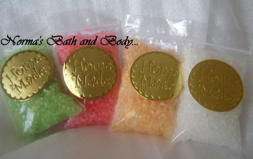 Trial size bath salts set of 4 527a15c5