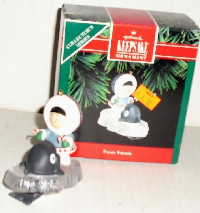 1992 Hallmark Ornament FROSTY FRIENDS Series #13 in box