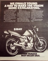 1982 YAHAMA VISION MOTORCYCLE AD 24 X 36 INCH POSTER | motocross | helmet | - $18.99