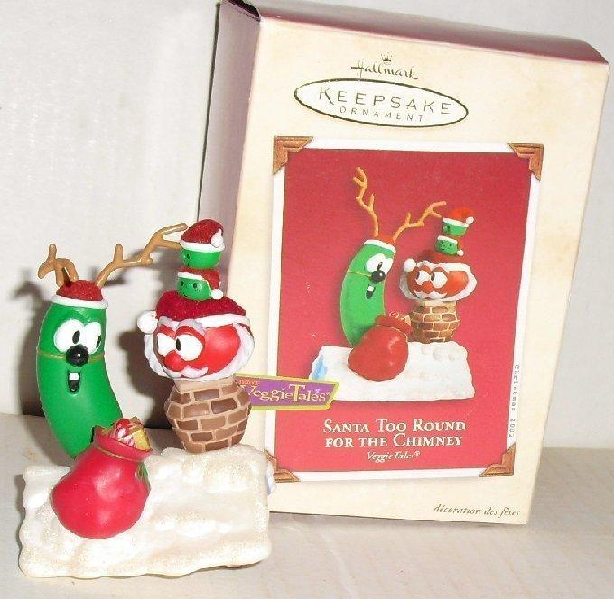 2002 Hallmark Ornament VEGGIE TALES Santa too round for