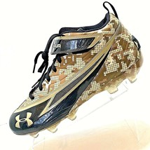 Wounded Warrior Under Armour Shoes  Football Cleats Size 15 Brown Camo E... - $17.59