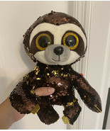 """Ty FLIPPABLES Sequins DANGLER the Sloth 6"""" Size Beanie Boo NEW Stuffed P... - $7.91"""
