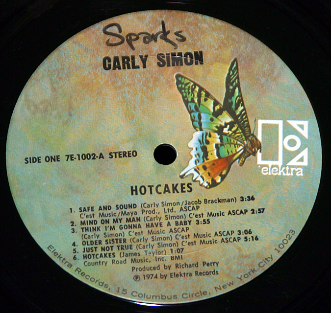 "Carly Simon ""Hotcakes""    LP"