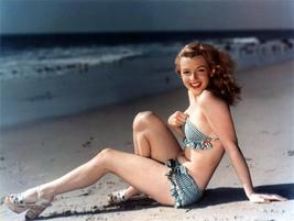 Marilyn Monroe In Swimsuit 24x36 Inch High Gloss Poster - $18.99