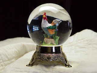 Rooster .....Water Globe/Water Ball