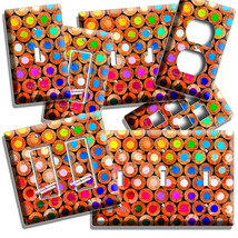 COLORFUL COLOR PENCILS BACKS LIGHT SWITCH OUTLET PLATE NEW ART STODIO RO... - $8.99+