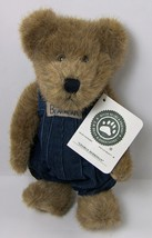 """George Berriman Plush 10"""" Bear from Boyds Bears in Overalls Show Special 2000 - $12.35"""