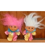 "Russ Trolls TROLL Doll lot of 2 CLOWNS 5"" - $43.98"