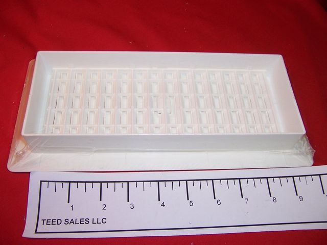 Decor Grates 4 x12 White Plastic Floor Register Grate PL412-WH