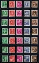859-93, Mint VF NH Set of 35 Stamps - Famous Americans - Stuart Katz - $10.95