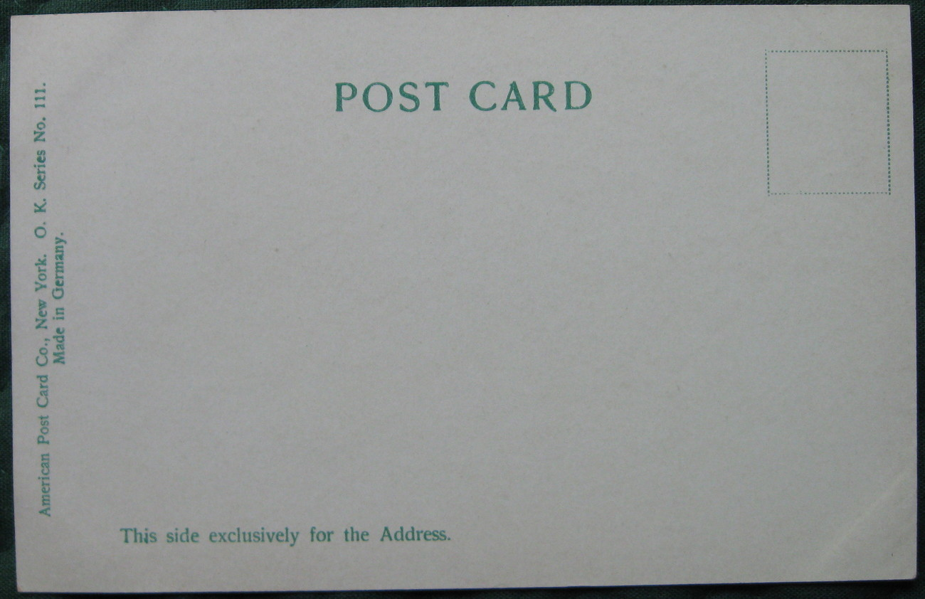 Antique, Souvenir Post Card Co., printed in Germany, Undivid