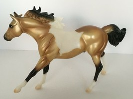 Classic Breyer American Quarter Horse Stallion Buckskin Paint Horse Frol... - $17.99