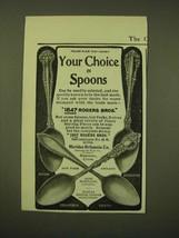 1902 1847 Rogers Bros. Spoons Ad - Avon, Columbia, Vesta and Berkshire - $14.99