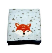 Parent's Choice Blue FOX Baby Blanket Fleece Triangles 3D Ears Walmart L... - $22.26