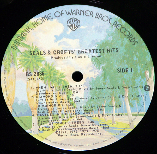 "Seals & Crofts ""Greatest Hits""   LP"