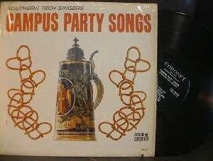 Southern Tech Singers - Campus Party Songs - Coronet Records CX 177