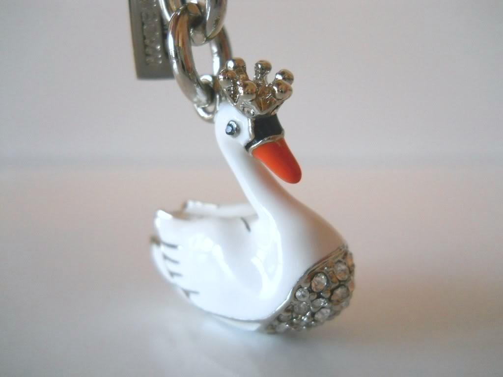 COACH Crown Swan Key Fob NWOT 92778