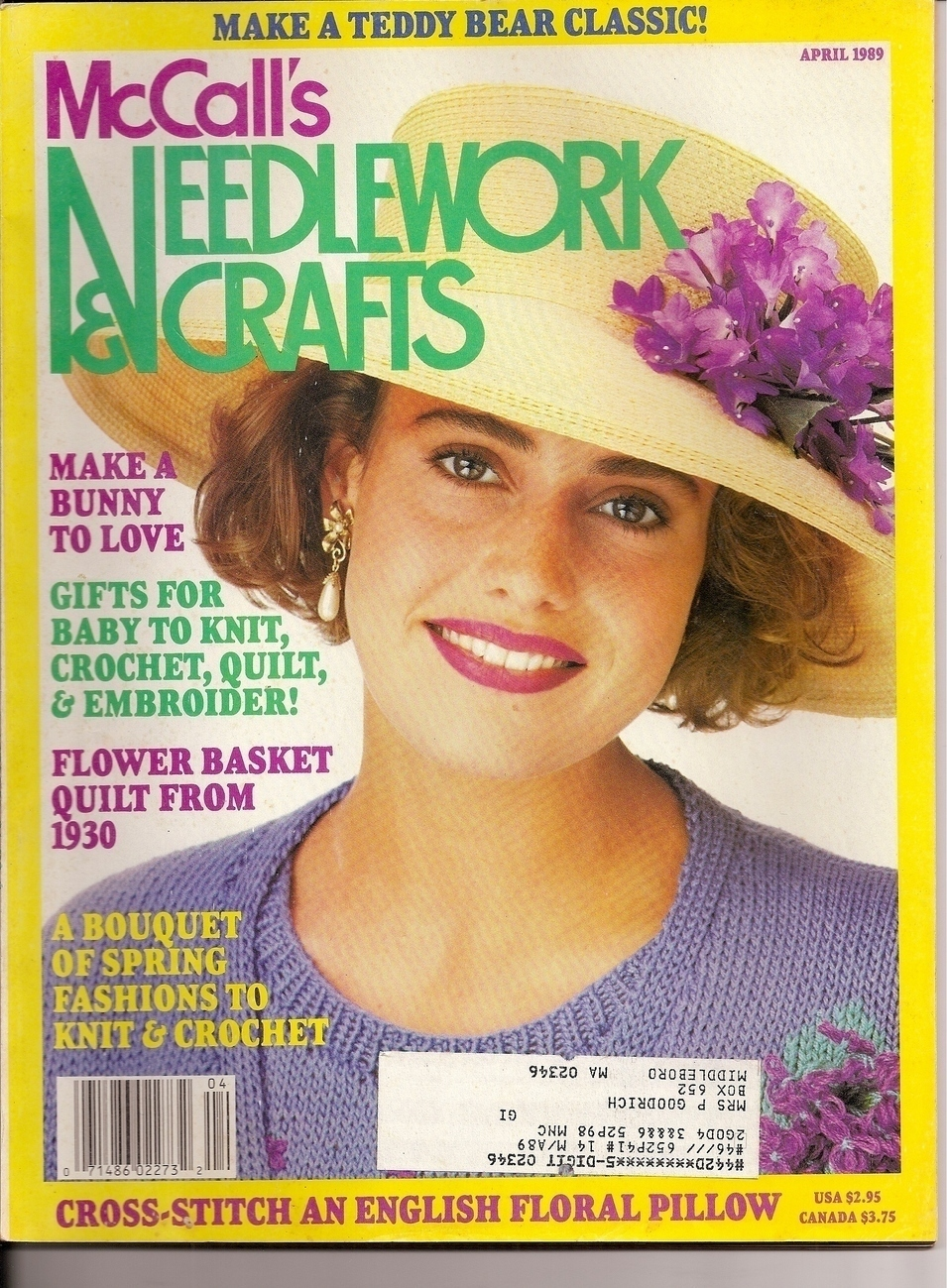 McCalls Needlework & Crafts Magazine April1989