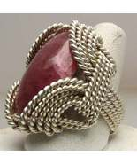 Extravagant Wire Wrap Red Sardonyx Sterling Sil... - $135.00