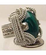 Wire Wrapped Sterling Silver Malachite Ring - F... - $150.00