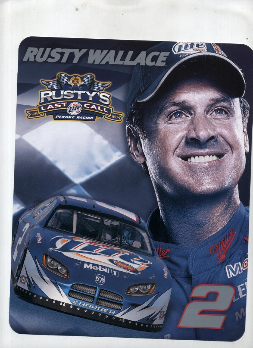 Primary image for Lot 13 NASCAR Rusty Wallace Promo Cards Postcards Souvenirs Photos