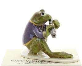 Hagen-Renaker Miniature Ceramic Frog Figurine Toadally Brass Band Flute Player image 2