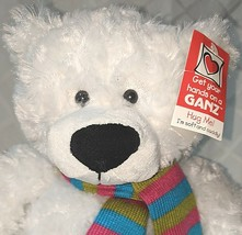 GANZ HX11211 Gusty The White Bear Hug Me Collection 15 Inches 3 Plus Age image 2