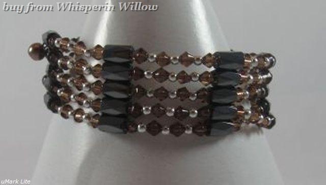Brown Crystal Magnetic Hematite Fashion Lariat