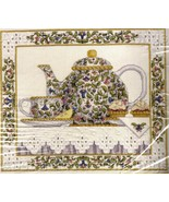 RARE WENTZLER TEAPOT STILL LIFE CROSS STITCH KIT EVENWEAVE T - $48.00