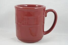 Longaberger Pottery Woven Traditions Coffee Tea Mug Paprika Red Vitrified - $18.87