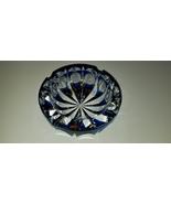 Saint Louis crystal ashtray in blue sapphire.  - $650.00