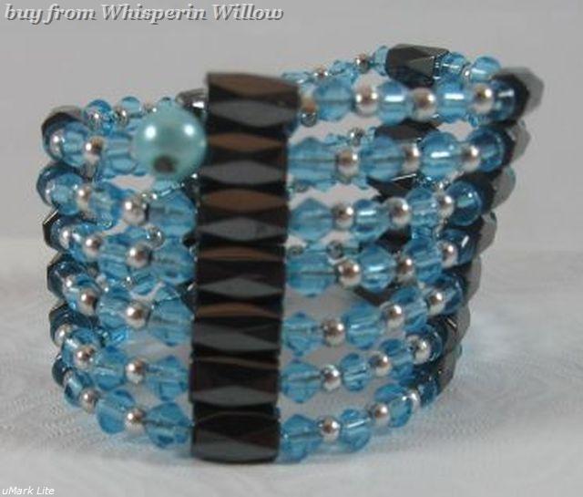 Sky Blue Crystal Magnetic Hematite Lariat