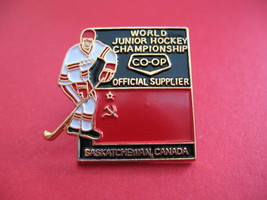 World Junior Hockey USSR Russia Flag Souvenir Lapel Pin - $7.99